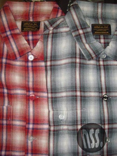 特價【NSS】NEIGHBORHOOD 12 B&C SP CT SHIRT 短袖 格紋襯衫 M 紅 灰