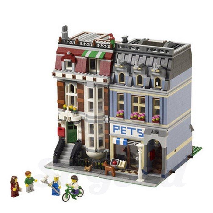 積木街景 歐洲寵物驗市場巴黎拼裝益智積木玩具裝飾_☆SoGoods優購好☆