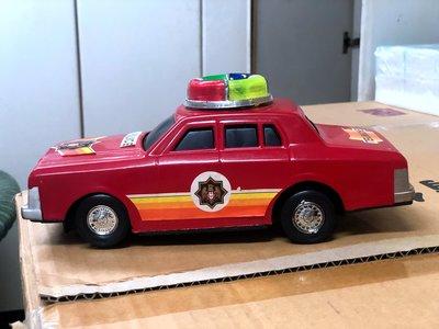 早期電動警車玩具/測試有通電