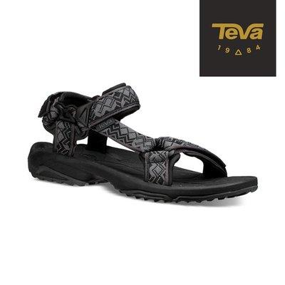 丹大戶外用品【TEVA】美國 男 Terra Fi Lite 水陸機能涼鞋 1001473KBL 黑灰