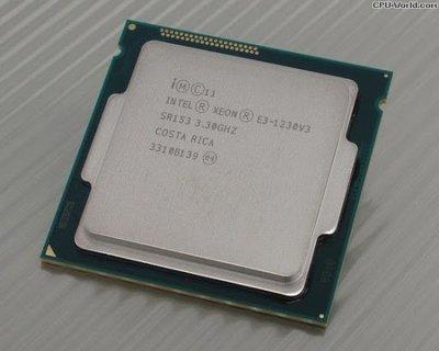 二手 Intel E3 1230 V3  聯強貨 1150腳位 CPU