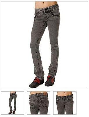 阿弘的賣場 Dickies Girl MS193AW Five Pocket Acid Wash Skinny Jeans Waistband