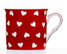 點點蘑菇屋{馬克杯}英國ROYAL DUKE紅色愛心骨瓷馬克杯 骨瓷杯 水杯 奶茶杯 現貨 附精緻禮盒. 新竹縣