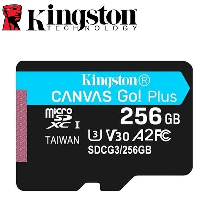 《SUNLINK》金士頓 Kingston Canvas Go Plus 256G 256GB A2 U3 記憶卡