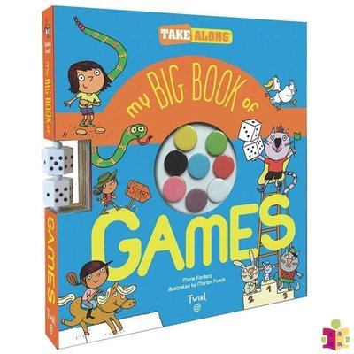 [文閲原版]我的大開本游戲書 英文原版 My Big Book of Games 便攜活動游戲書 趣味書 3-6歲