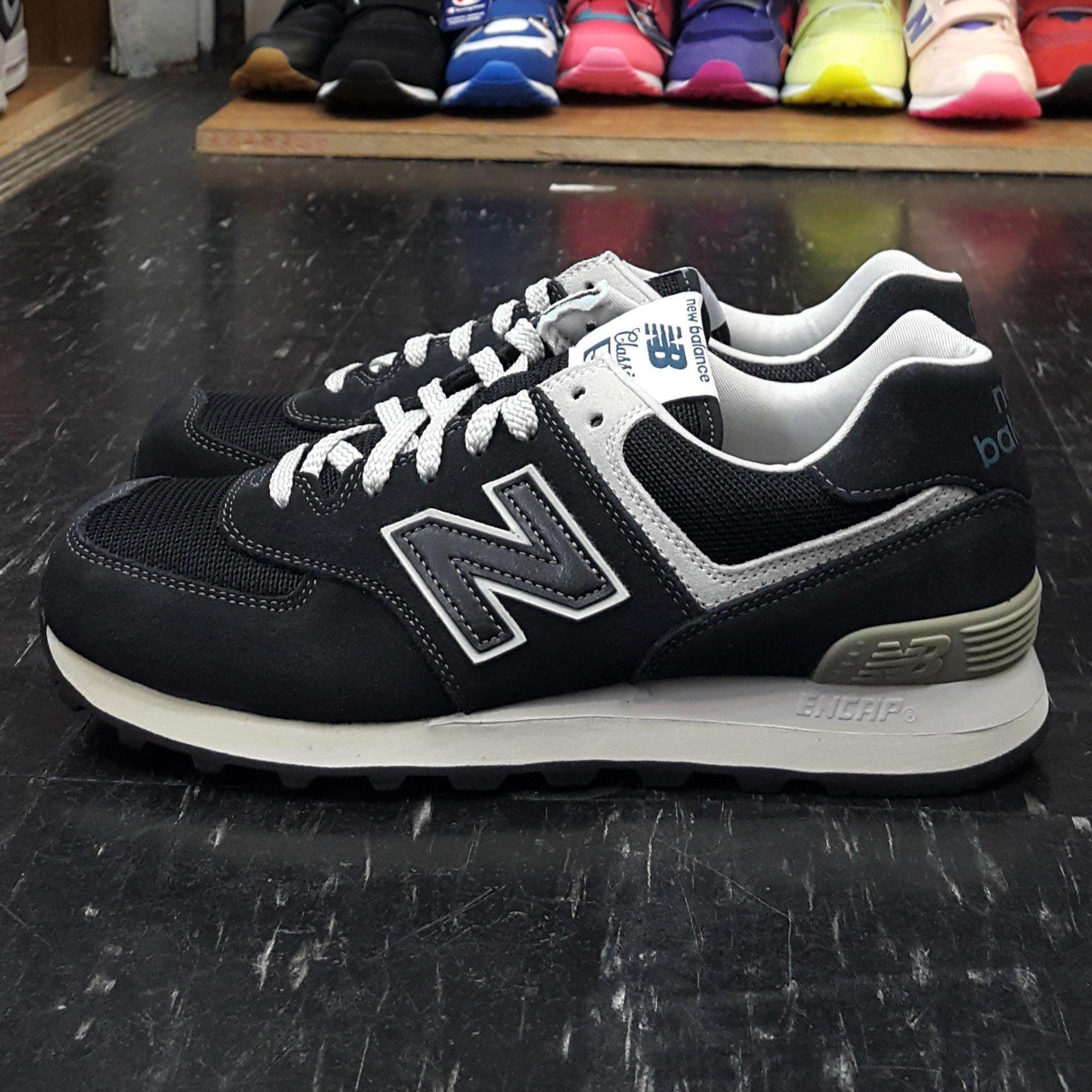 new balance nb 574 ML574FBG 黑色黑白米白色復古麂皮網布慢跑鞋 fc37d14dab3f