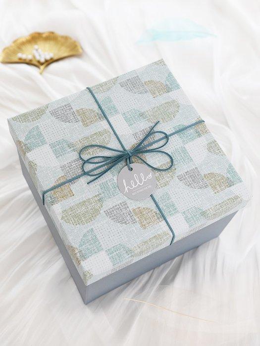 禮品盒 禮品盒子ins風正方形大號禮盒包裝盒網紅生日精美男生款禮物盒 優品百貨
