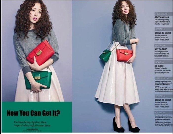尹恩惠同款小號單肩小包2016新款潮復古包信封包女包斜背包