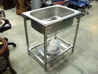 大台南冠均二手貨--全新 304#台面 72cm 單孔水槽 洗手槽 洗菜槽 洗碗工作槽 流理台 *工作台/攤車/餐飲設備