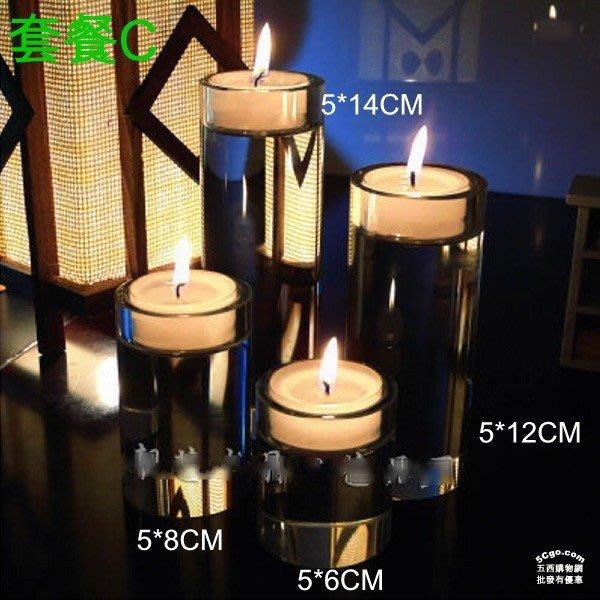 5Cgo【批發】含稅43410977607 歐式現圓形K9水晶燭台蠟燭佛前燈座擺件燭光浪漫晚餐情人節咖啡餐廳婚禮裝飾聖誕