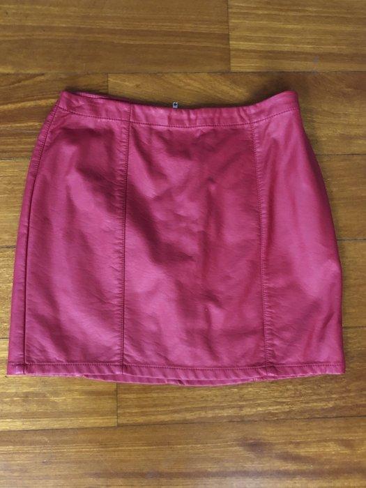 (嘻哈姐弟) Forever 21 女生仿皮包臀短裙 全新 現貨M號 後拉鍊開合