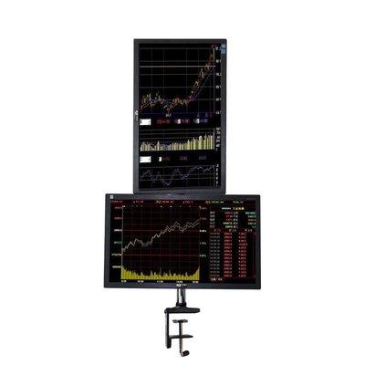 雙屏 電視架 上下可調 平行 高低可調 螢幕架 雙螢幕 上下雙螢幕 桌上型 支架 電腦螢幕 左右旋轉 展示架 股票 展覽