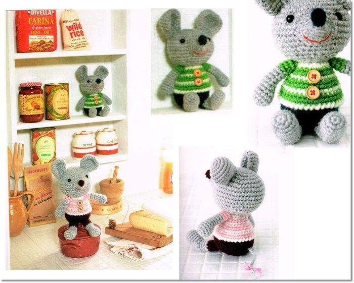 ☆彩暄手工坊☆毛線娃  老鼠娃 材料包~編織工具、手工藝材料、進口毛線、鉤針玩偶、編織書