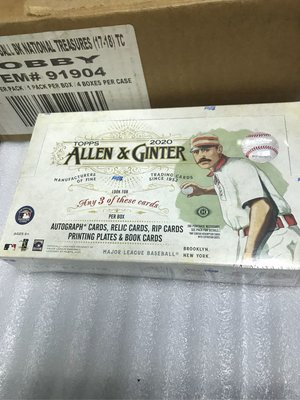 Topps Allen Ginter 2020 盒卡 box Trout Robert Alvarez