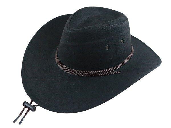 【二鹿帽飾】雞皮 皮繩滾邊 高質感牛仔帽/ 西部帽/ 狩獵帽/表演帽/國小以上表演專用帽-2色
