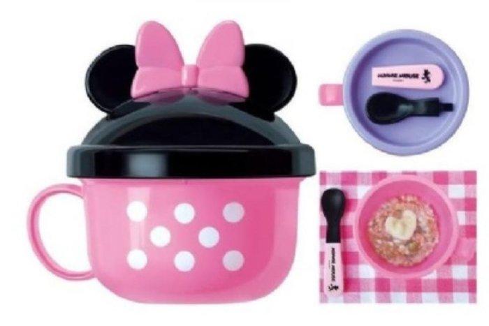 bobo愛漂亮 現貨在台 日本Akachan阿卡將 外出餐具組(碗+湯匙) 米奇 米妮兩款 兒童餐具組