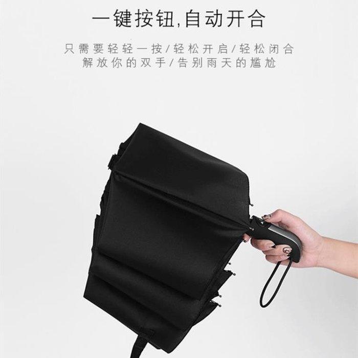 折疊傘全自動雨傘折疊大號雙人三折防風男女加固黑膠晴雨兩用學生超大號 二度