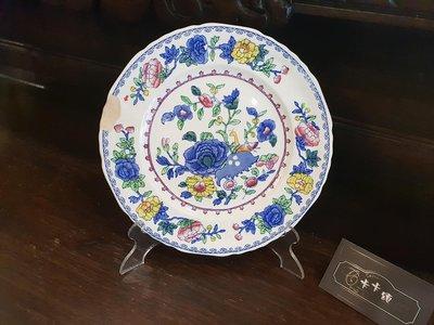 【卡卡頌 歐洲跳蚤市場/歐洲古董】英國老件Manson's Regency系列 花鳥老瓷盤 餐盤 圓盤  p1112✬