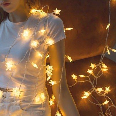 斑點五角星聖誕燈串10公尺/米80燈條...
