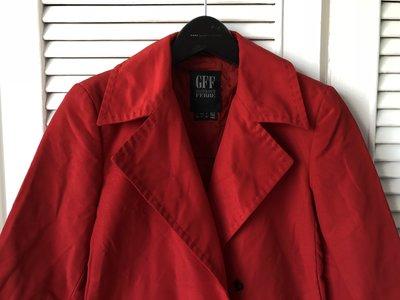 專櫃正品【Gianfranco Ferre】GFF 紅色風衣大衣