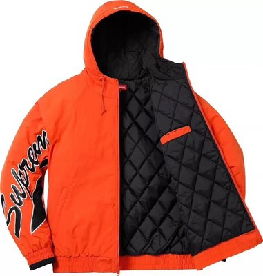 Willion SUPREME 18SS SLEEVE SCRIPT SIDELINE JACKET 尼龍 橘色L號