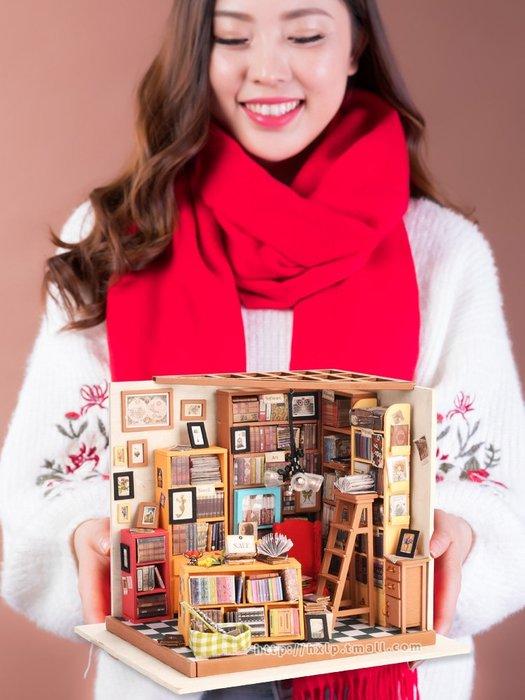 奇奇店-若態3D立體拼圖手工DIY小屋房子拼裝模型山姆書店花房生日禮物女(規格不同價格不同)