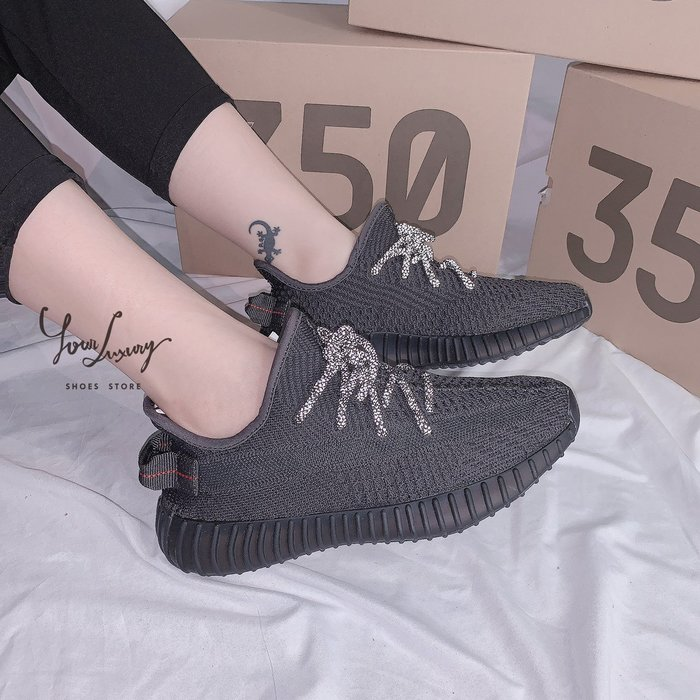 【Luxury】Adidas YEEZY BOOST 350 V2 全新暗黑 人氣款 黑魂配色 Triple Black