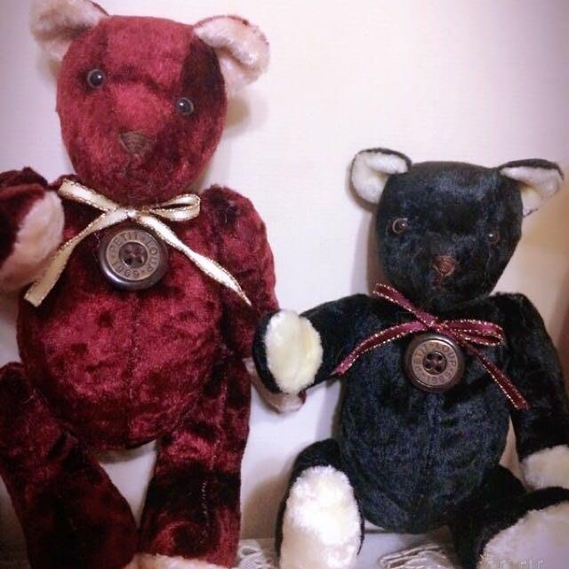 收藏型泰迪熊,日本製,手腳均可活動,全新