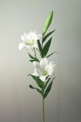 勁果UJ 2花1苞鐵砲百合32吋 Lily 復活節百合 麝香百合 古吹花 人造花 假花 仿真花 佈置 優雅氣質款