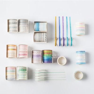【媽媽倉庫】花色多種多變化黏貼紙膠帶 10入裝 膠帶 裝飾美勞用具