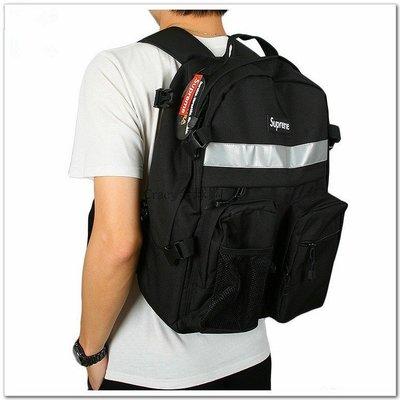 Supreme 37th Backpack Hi-Vip Hip Bag 37代 3M反光後背包 黑/紅 兩色