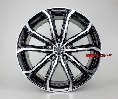 2017 新款五爪分岔鋁圈樣式 高質感 高品質 17吋 5孔100/108/114.3 7.5J ET38 黑底灰底兩色