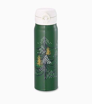 2014 星巴克STARBUCKS 聖誕節 限量 閃耀耶誕樹隨身瓶 600ml不鏽鋼隨行杯 膳魔師保溫瓶