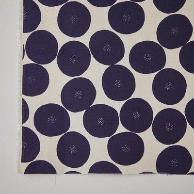 需預購 日本 MUDDY WORKS 生成底色x深藍紫色 紅豆麵包 中厚地 棉布 (半米50x110cm=290元)