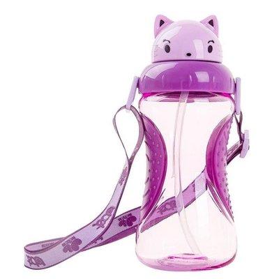 哆啦本鋪 寶寶水杯防漏帶吸管兒童吸管杯喝水訓練杯嬰兒學飲杯防嗆防摔水壺 D655