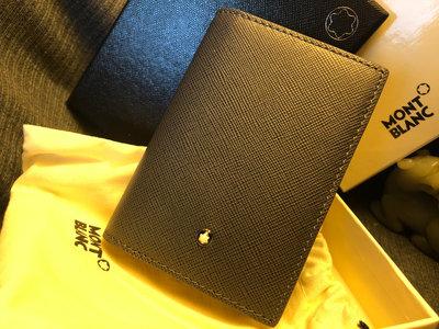 (主管託售) 深灰色 Montblanc 萬寶龍 容量加厚款 名片夾, 全新正品