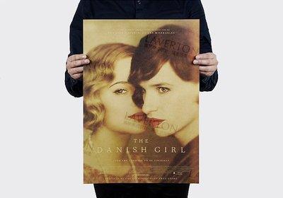 【貼貼屋】丹麥女孩 牛皮紙 海報 奧斯卡 壁貼 經典款 電影海報 懷舊復古 962