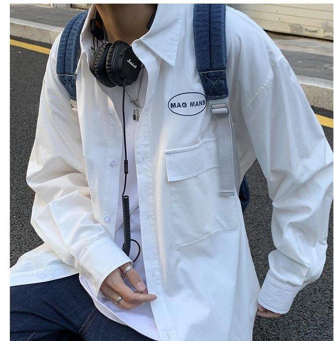 FINDSENSE X  男士 長袖  休閒 學院風長袖襯衫制服青少年百搭情侶襯衣