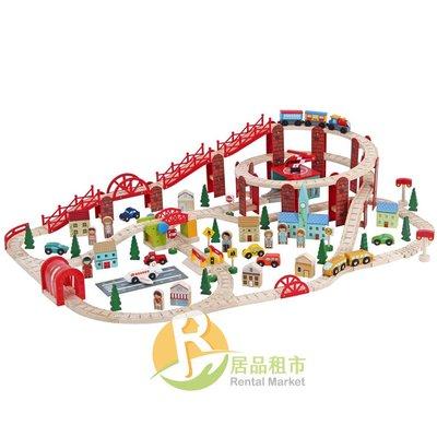 【居品租市】 專業出租平台 【出租】  mentari 木頭玩具 迷你都市高架火車組
