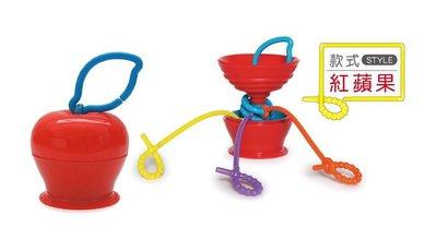 【Re*】 美國 Grapple 矽膠創意小物 三爪玩具俏吸盤 (紅蘋果)