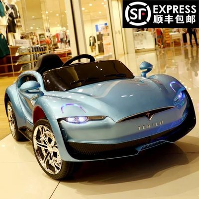 現貨 可開發票特斯拉兒童電動車四輪汽車雙電雙驅遙控搖擺小孩子寶寶玩具可坐人