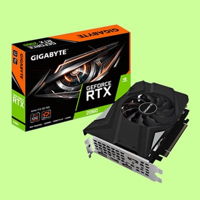 5Cgo【聯強】技嘉NVIDIA Geforce RTX 2060 MINI ITX OC 6G 顯示卡 3年保 含稅