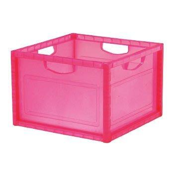 [家事達] 樹德 KD-2638 巧拼收納箱-桃紅色 資料筒 / 收納箱  出清價