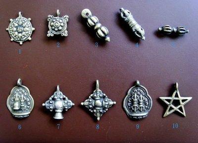 【五輪塔】來自神秘西藏的佛教文物B『卍天銅天鐵佛牌10件卍』隨身開運避邪吉祥物!