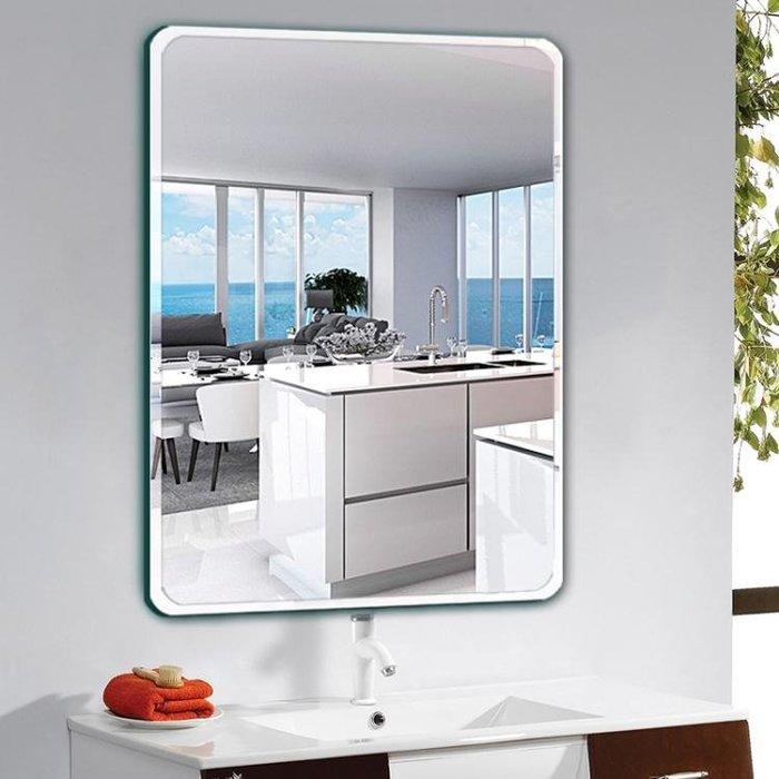 壁掛鏡 浴室鏡子免打孔衛浴鏡衛生間化妝壁掛梳妝廁所洗手間簡約貼牆掛鏡T