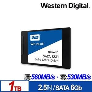 @電子街3C特賣會@全新 WD SSD 1TB 2.5吋 3D NAND固態硬碟(藍標) SSD