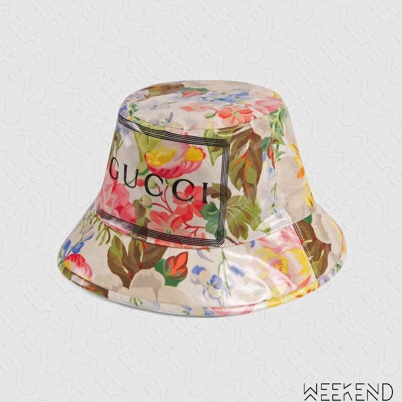 【WEEKEND】 GUCCI Bucket Hat Flora 文字 花朵 漁夫帽 帽子 576371