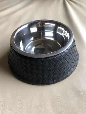 [熊熊之家3]保證正品 BOTTEGA VENETA BV 黑色 編織  狗碗  貓碗