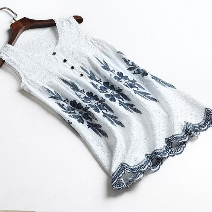 純棉吊帶背心女寬鬆中長款大碼打底無袖上衣