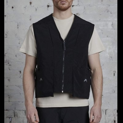 A-Cold-Wall Drawcord Pocket Vest 黑色背心 a cold wall ACW